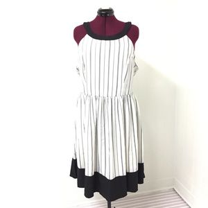 2XL MODCLOTH Black & White Pinup Sleeveless Dress